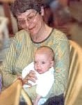 Lorna d'Entremont with grand child
