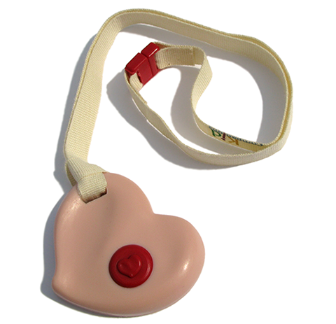 Pink Heart KidCompanions with Undyed lanyard