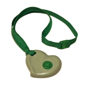 kc20g- Chewable green heart kidcompanions chewelry