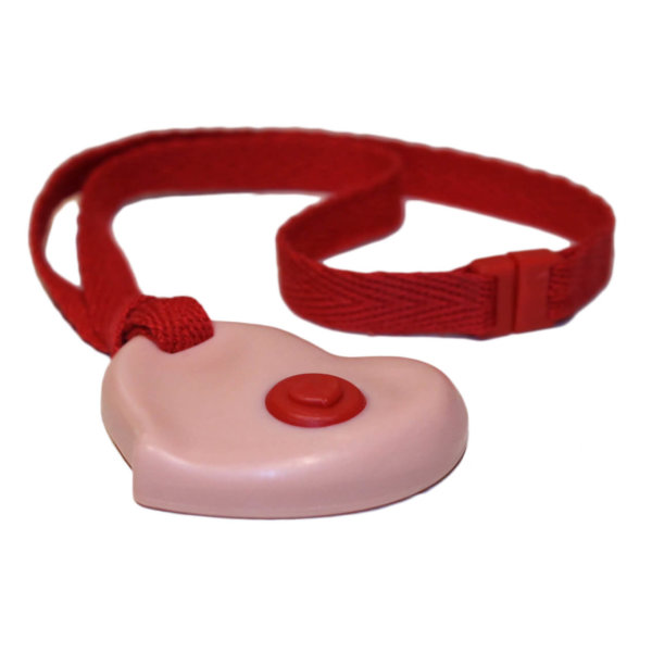 "20"" Pink Heart Chewelry with Breakaway Lanyard"