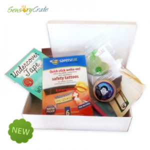 Sensory Crates can be bought with items for your child's sensory box.