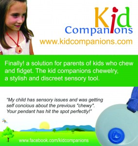 KidCompanions Chewelry is a great sensory chew necklace for a sensory box.