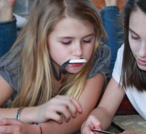 Children playing using language skills