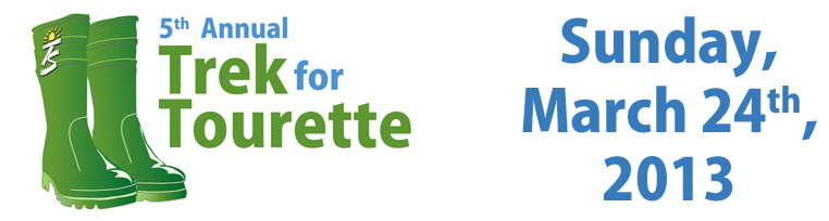 Trek for Tourette is a 5km walk/run held annually on the last Sunday of March* in communities across Canada in support of the Tourette Syndrome cause.