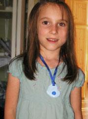 Blue heart KidCompanions Chewelry: SAFE, Sensory Chew Necklaces & Clip-on Fidgets