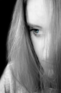 Sad woman with bipolar disorder