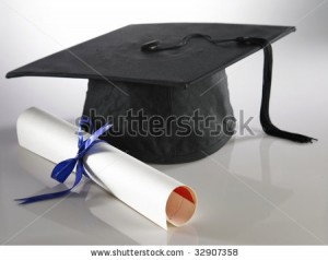 Cap and diploma - Diagnosis of Autism, Dyspraxia, Sensory Issues , and ADHD in Final Year of School