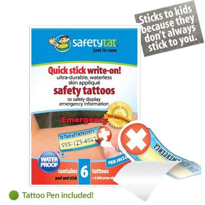 SafetyTat kid safety tatoos