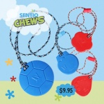 Tougher-than-Silicone SentioCHEWS, the chew necklace kids love to wear and use! www.kidcompanions.com