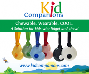 KidCompanions Chewelry is a chewable accessory used by kids, teens, and even adults who have an overwhelming need to chew, bite, or fidget.