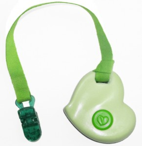 Green heart with a clip - KidCompanions Chewelry is needed by those who MUST bite, chew or fidget