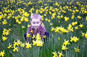 Child and flowers - Children Allergies Can Do More than Make One Sneeze by Sara Dawkins