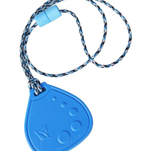 SentioCHEWS Blue Dot Drop chewable necklace SCDb