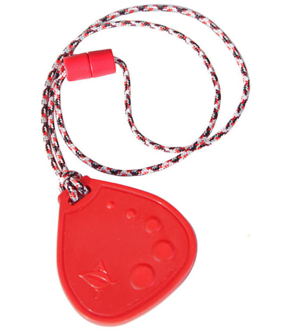 SentioCHEW RED Dot Drop chewable pendant