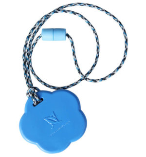 SentioCHEWS Blue Chubby Star chewable necklace SCFb