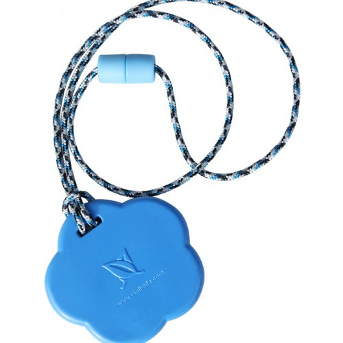SentioCHEWS Blue Flower chewable necklace SCFb
