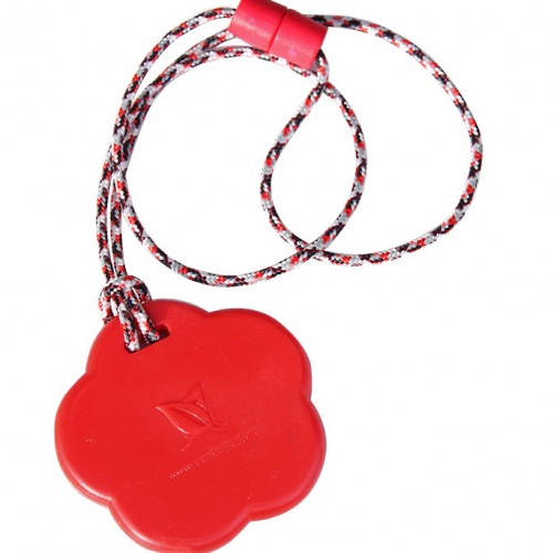 SentioCHEWS Red Flower chewable necklace SCFr