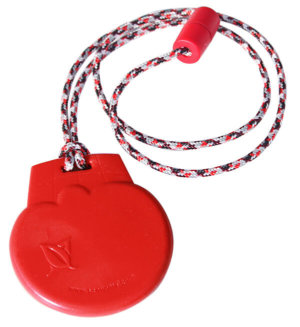SentioCHEWS Red Ice Cream chewable necklace SCIr