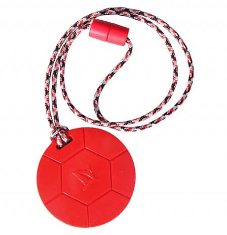 SentioChew Red Soccer Ball