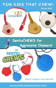 If these children with special needs can manage to subconsciously fidget, chew or bite, say with KidCompanions Chewelry or SentioCHEWS, it allows their mind to focus on the main tasks.