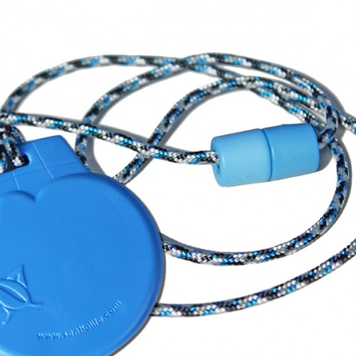 Chew Necklace Blue Ice Cream made by Sentio Life Solutions, Ltd.
