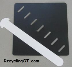 Square shape - Weavable Toys: Basic Shapes by Barbara Smith, M.S., OTR, the RecyclingOT