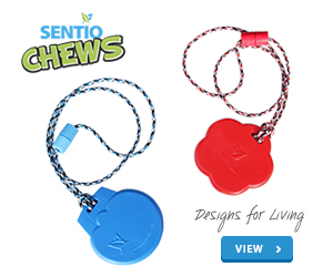 NEW SentioSTYLES LANYARDS and SUPER chew necklace SentioCHEWS by SentioLife Solutions, Ltd.