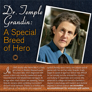 Dr. Temple Grandin: A Special Breed of Hero – Infographic