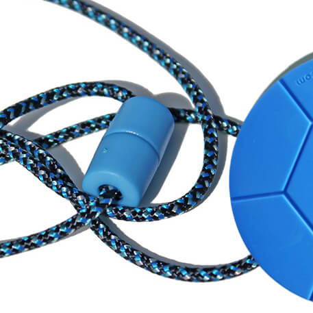 BLUE DIGITAL breakaway lanyard and soccer ball Chewable pendant