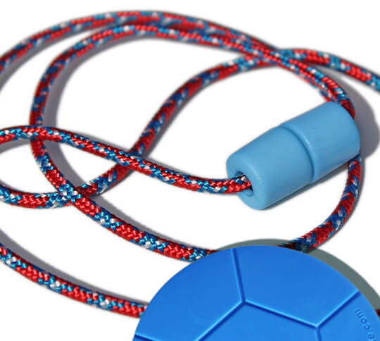 RED & BLUE breakaway lanyard and soccer ball Chewable pendant