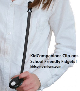 Provide KidCompanions Chewelry or SenetioCHEWS: safe, age-appropriate chew necklaces to satisfy his need to chew, bite, and/or fidget.