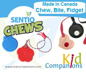 Pierrette and I are pleased to say we are among the contributors and have explained how SentioCHEWS and KidCompanions Chewelry can help make visiting dentist easier.