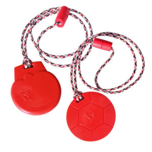 red soccer icecream chewable necklaces