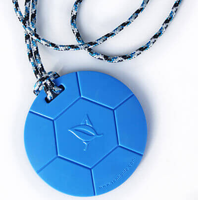 soccer chewable pendant
