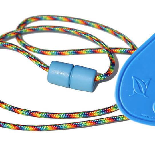 SentioCHEWS Blue Chewable Drop Necklace -PARTY Breakaway Lanyard.