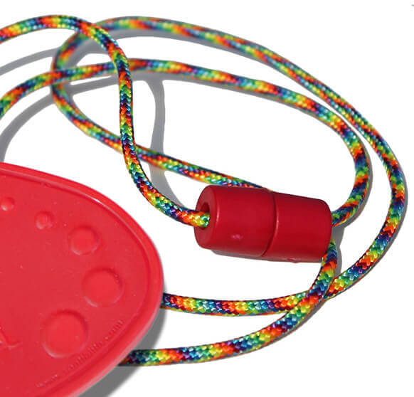 Red Chewable Drop Necklace -Party Breakaway Lanyard.