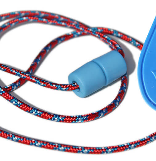 Chewable Drop Necklace -Red and Blue Breakaway Lanyard.