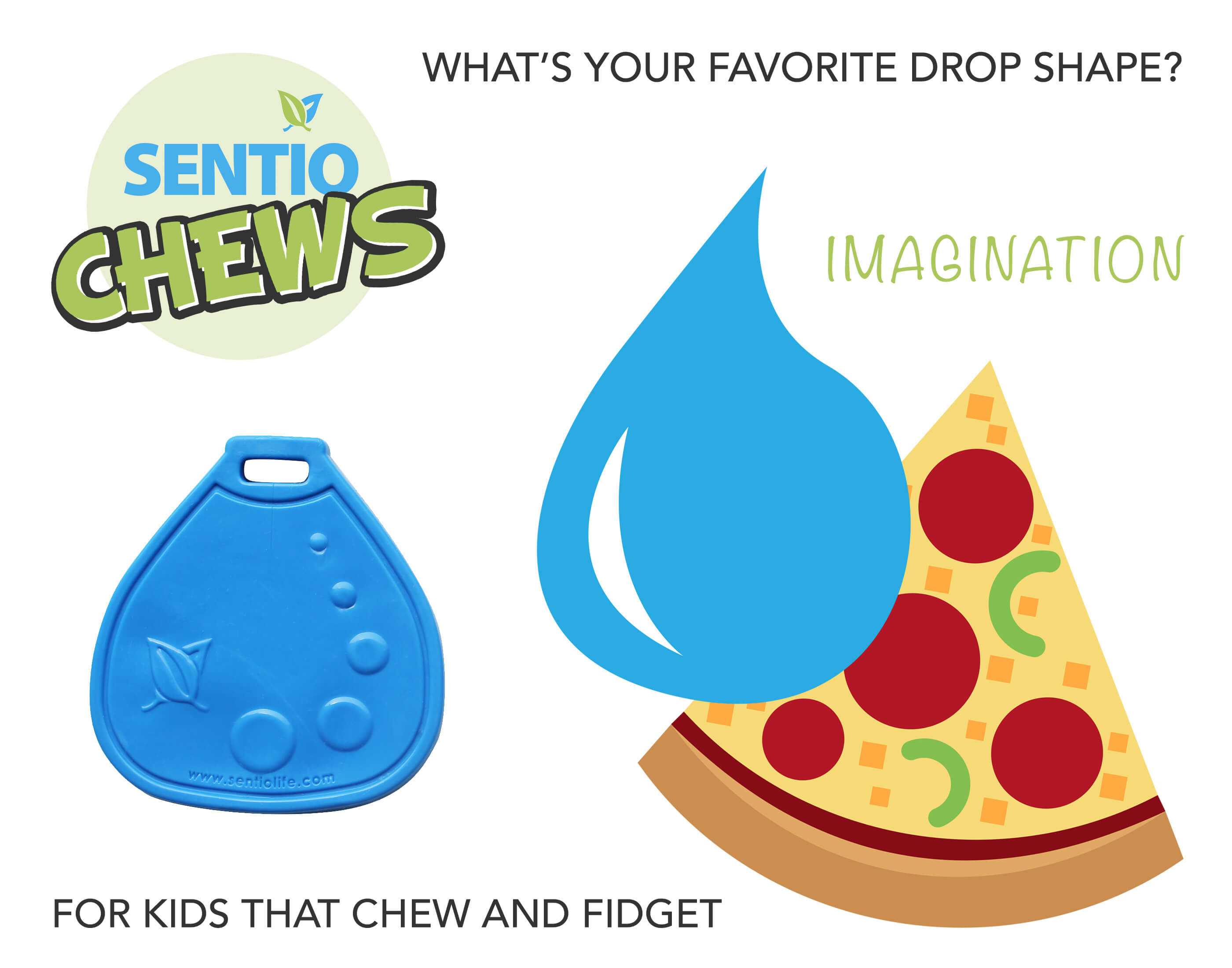 chewelry drop shape Pizza, Water Drop imagery