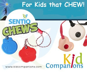 SentioLife Solutions' two lines of chew necklaces: KidCompanions Chewelry & SentioCHEWS  online: www.kidcompanions.com