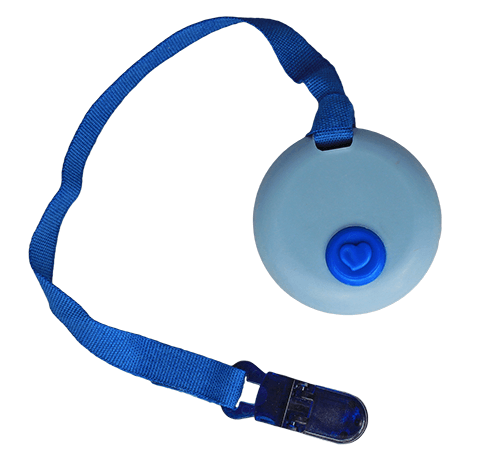 Blue Circle Clip-on Chewelry
