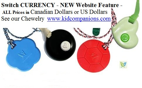 Feature of NEW KidCompanions Chewelry & SentioCHEWS Website - SWITCH CURRENCY